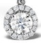 Ella 18K White Gold Diamond Brilliant Cut Pendant 0.71ct G/VS2 - image 3