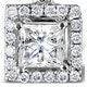 Ella 18K White Gold Diamond Princess Cut Pendant 0.74ct H/SI - image 3