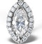 Ella 18K White Gold Diamond Marquise Pendant 0.73ct H/SI - image 3