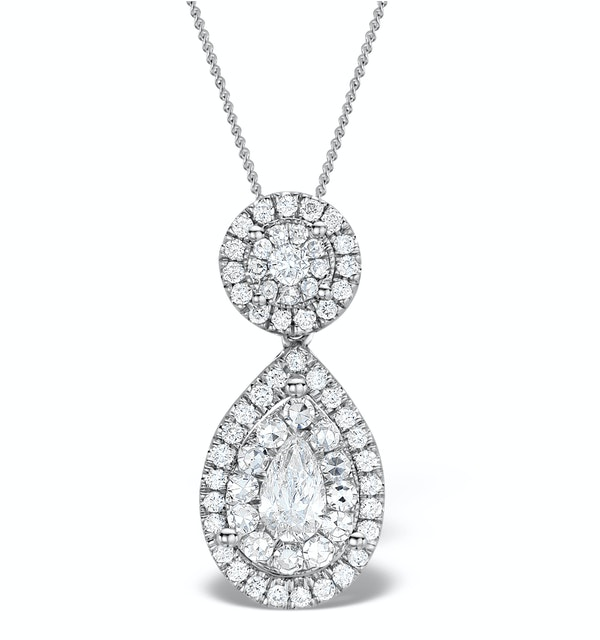 1ct Diamond and 18K White Gold Galileo Pendant FS26 - image 1