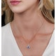 Sapphire and Diamond Halo Necklace in 18K Gold - Asteria Collection - image 2
