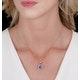 2ct Tanzanite and Diamond Halo Square Asteria Necklace in 18K Gold - image 2