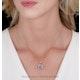 2ct Tanzanite and Diamond Halo Square Asteria Necklace in 18KW Gold - image 2