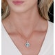 5.40ct Blue Topaz and Diamond Halo Asteria Necklace in 18K Gold - image 2