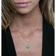 1.40ct Emerald Asteria Diamond Halo Pendant in 18K White Gold - image 3