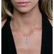 1.20ct Sapphire Asteria Collection Diamond Drop Pendant in 18K Gold - image 3