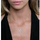 1.20ct Sapphire Asteria Diamond Drop Pendant in 18K White Gold - image 3