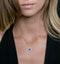 0.80ct Sapphire Asteria Diamond Heart Pendant Necklace 18K White Gold - image 3