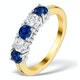 Sapphire 0.90CT and Diamond Ring 0.40CT 18K Gold FT26 - image 1