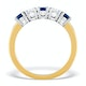 Sapphire 0.90CT and Diamond Ring 0.40CT 18K Gold FT26 - image 2