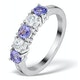Tanzanite 0.75CT and Diamond Ring 0.40CT 18K White Gold FT26 - image 1