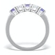 Tanzanite 0.75CT and Diamond Ring 0.40CT 18K White Gold FT26 - image 2