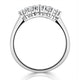 Grace 18K White Gold 5 Stone Diamond Eternity Ring 0.33CT - image 3