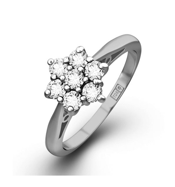 1.00ct G/Vs Diamond and Platinum Ring - Ft20-322Xus - image 1