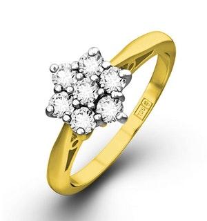Millie 18K Gold Diamond Cluster Ring 0.25CT H/SI -  FT20-47JUA