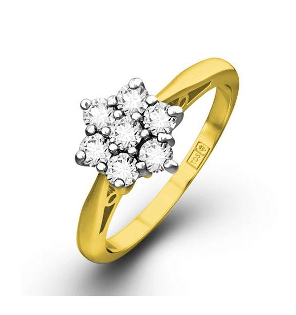 Millie 18K Gold Diamond Cluster Ring 0.25CT H/SI -  FT20-47JUA - image 1