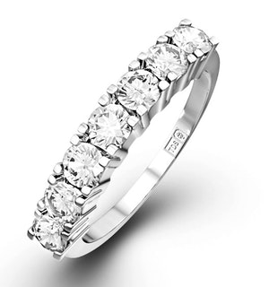 Chloe Platinum 7 Stone Diamond Eternity Ring 0.75CT G/VS