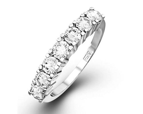 7 Stone Chloe Half Eternity Rings