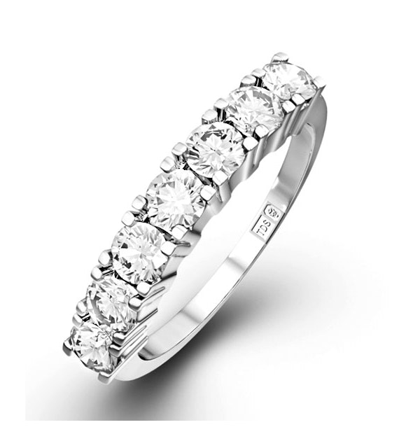 Chloe Platinum 7 Stone Diamond Eternity Ring 1.00CT G/VS - image 1