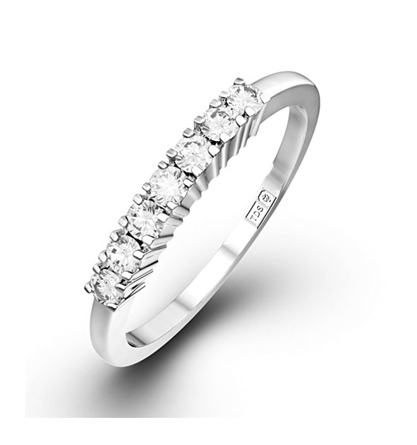 Chloe Platinum 7 Stone Diamond Eternity Ring 0.30CT H/SI - image 1