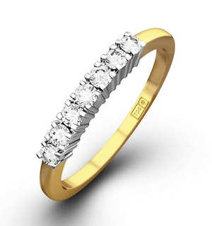 Chloe 18K Gold 7 Stone Diamond Eternity Ring 0.30CT G/VS