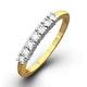 Chloe 18K Gold 7 Stone Diamond Eternity Ring 0.50CT H/SI - image 1