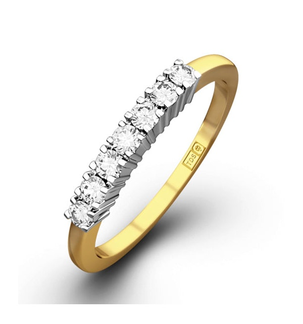 Chloe 18K Gold 7 Stone Diamond Eternity Ring 0.50CT PK - image 1