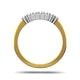 Chloe 18K Gold 7 Stone Diamond Eternity Ring 0.50CT H/SI - image 3
