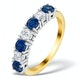 Sapphire 1CT and Diamond Ring 0.50CT 18K Gold FT32 - image 1