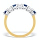 Sapphire 1CT and Diamond Ring 0.50CT 18K Gold FT32 - image 2