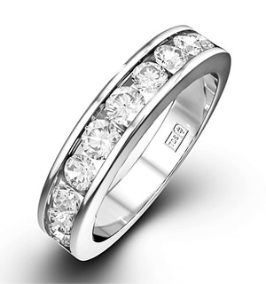 Rae Platinum Diamond Half Band Eternity Ring 1.00CT H/SI