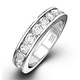 Rae Platinum Diamond Half Band Eternity Ring 1.50CT H/SI - image 1