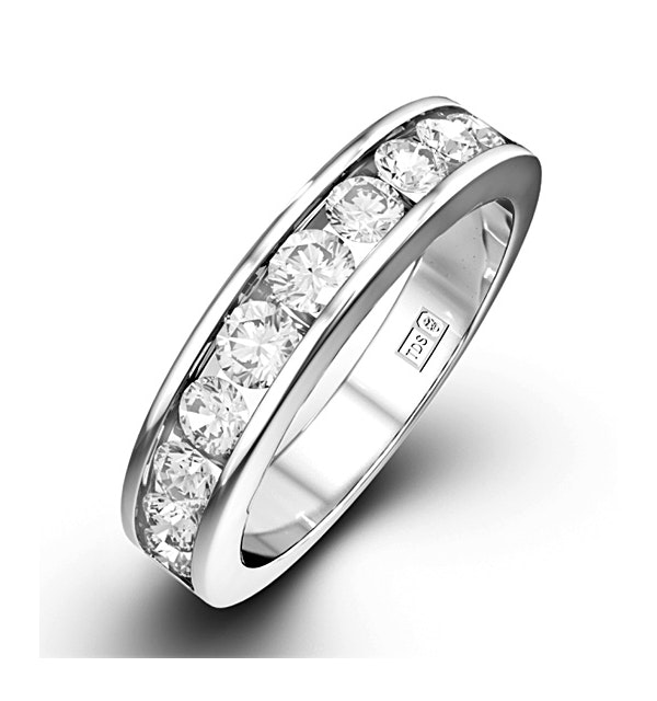 Rae Platinum Diamond Half Band Eternity Ring 1.50CT G/VS - image 1