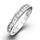 Rae Platinum Diamond Half Band Eternity Ring 0.25CT H/SI - image 1