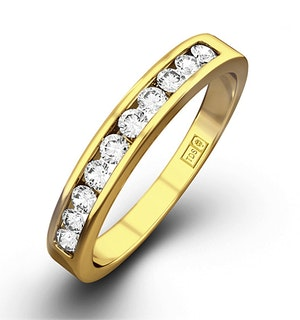 Rae 18K Gold Diamond Half Band Eternity Ring 0.25CT H/SI