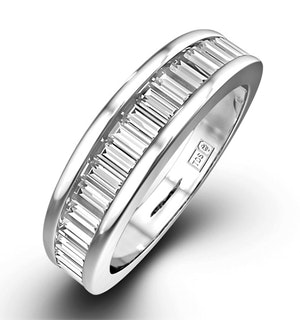 18K White Gold Baguette Diamond Eternity Ring 1.00CT H/SI