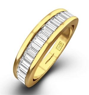 18K Gold Baguette Diamond Eternity Ring 1.00CT H/SI - FT34-322JUA
