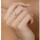 18K White Gold Princess Diamond Half Eternity Ring 0.50CT H/SI - image 4