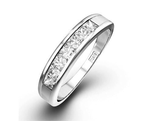 Princess Cut Half Eternity Rings