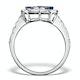 0.84ct Diamond 1.60ct Sapphire and 18K White Gold Circles Ring - image 2