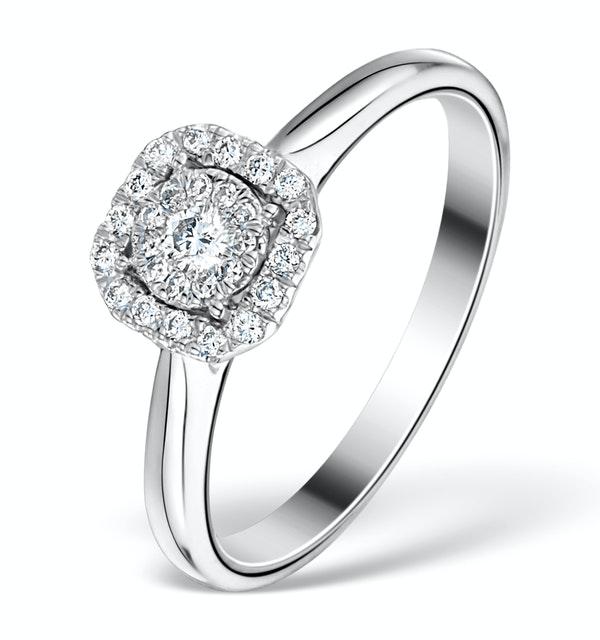 0.25ct Diamond Engagement Ring 18K White Gold Galileo FT65 - image 1