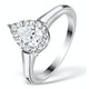 1ct Diamond and 18K White Gold Galileo Ring FT69 - image 1