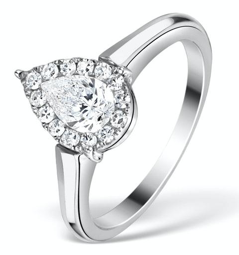 1ct Diamond and 18K White Gold Galileo Ring FT69 - image 1