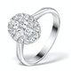 1ct Diamond and 18K White Gold Cluster Ring FT60 - image 1