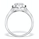 1ct Diamond and 18K White Gold Cluster Ring FT60 - image 2