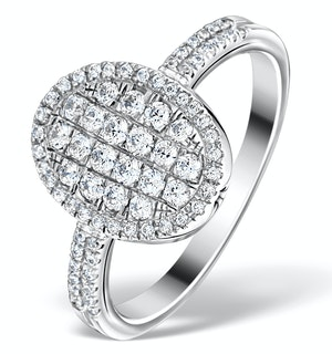 Halo Engagement Ring Galileo with 0.80ct of Diamonds in 18K Gold FT72