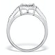 Halo Engagement Ring Galileo 0.50ct of Diamonds in 18K Gold - FT75 - image 2
