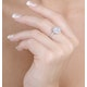 Halo Engagement Ring Galileo with 1ct of Diamonds in 18KW Gold - FT76 - image 3