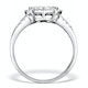 Halo Engagement Ring Galileo with 1ct of Diamonds in 18KW Gold - FT76 - image 2