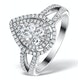 Halo Engagement Ring Galileo with 1ct of Diamonds in 18KW Gold - FT77 - image 1